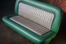 Auto Furniture & Man Caves / Móveis feitos com partes de carros e idéias para mobilhar garagem