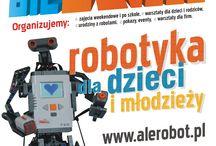 Poznaj świat robotów z Ale Robot / Wszystkich chętnych, którzy chcą poznać niesamowity świat robotów zapraszamy na warsztaty Ale Robot. W czasie warsztatów dzieci i młodzież będą mieli okazję zbudować i zaprogramować swoje pierwsze roboty, a także poznają niesamowity świat robotów. Od połowy września ruszają warsztaty Akademia Robotyki. Jest to cykl 8 spotkań, na których dzieci mają okazje poznać niesamowity świat robotów. Zajęcia podzielone są na dwie grupy wiekowe 7-9 i 10-14 lat. http://alerobot.pl/kategoria/akademia-robotyki