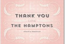 Thank You Cards / After the big day is over it's time to show your appreciation for everyone's effort in making your wedding extraordinary. View our gorgeous thank you cards to help express your gratitude. All styles available on www.weddingpaperdivas.com / by Wedding Paper Divas