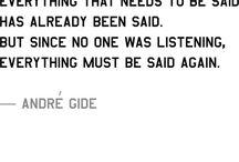 Andre Gide...