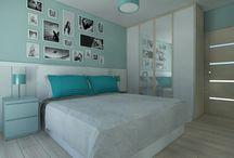 NIEBIESKIE WNĘTRZA / blue interiors / by Homebook.pl
