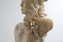 Sculptures  en Bois . Magnifique .