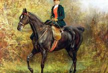 Horses & riders / Paintings of horses and riders