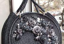 sac raphia noir