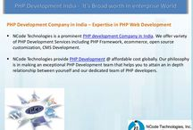 PHP Development India, PHP Development Company - NCode Technologies / NCode Technologies is a prominent PHP development Company in India. We offer variety of PHP Development Services including PHP Framework, ecommerce, open source customization, CMS Development.