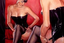 Pin up, pulp fiction, vintage girl
