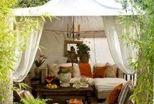 Vignette - Backyard Living Room / Dining Room