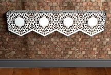 Lace wall mounted console tables