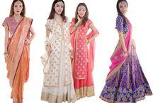 Wedding Season by Vidhi Singhania / Fashion, Elegant Sarees, Lehengas, Wedding season, designer