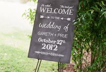 Blackboard Inspiration / Blackboard and wedding messages, message boards for events, light up message board.