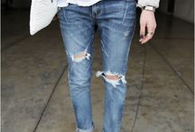 distressed boyfriend jeans outfit
