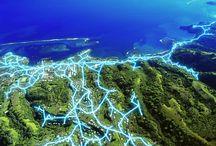 Telecom Maps / Telecommunication networks. #Constellatio