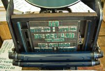Old school / Letterpress printing and type setting by hand.