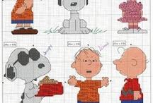 Peanuts Cartoon Cross Stitch