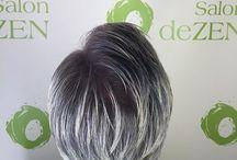 Silver and Gray Haircolor