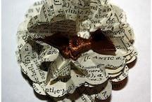blomster, håndlavede - handmade flowers / håndlavee blomster i papir og stof