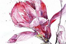 watercolor painting -