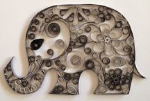 elephant quilling