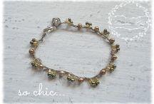 bracelet crocheted / #desiderichic, #chic, #shabbychic, #braccialeperle, #braccialeuncinetto, #braceletcrocheted