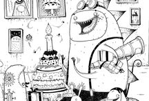 Monster Party / Monster Party colouring Book