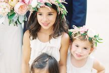 Wedding Style- Flower Girl / Great ideas for how to style the smallest members of your bridal party