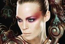 Extreme make-up ideas / Make-up looks that are more extreme than everyday make-up.