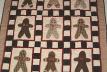 Inspiration for the Gingerbread Man Template / Inspiration for making Gingerbread Man Quilts