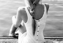 Sitting on a pier