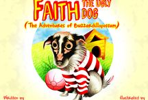 Faith, the Ugly Dog / Colored pencil illustrations / digital artwork for 'Faith, the Ugly Dog', a children's book written and published by Kelly Davis Beckley, President of BDP Design.