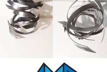Modern Table Sculpture - Fury by Dustin Miller / www.abstractmetaldesign.com for more awesome original designs.