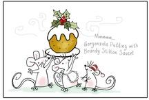 Red brolly Noël