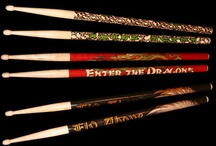 Custom Drumsticks / Custom printed drumsticks from Clayton Custom. General drumsticks.