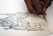 Albert Memorial / The completed Albert Memorial drawing