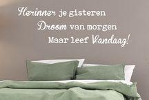 Nederlandse muurteksten / Nederlandse muurteksten  https://www.meermetstickers.nl/muurstickers/nederlandse-teksten.html