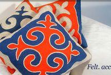 Nemez párnák - Felted pillows