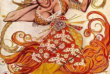 Стравинский Жар-птица / Вдохновение от балета Стравинского и эскизов Бакста