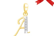 Diamond Alphabet pendant / Diamond Alphabet pendant