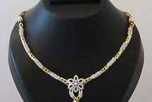 Necklaces to buy / Designer American Diamond Jewellery at lowest cost