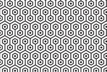 Black and white textiles / design ideas