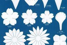 riscos azul flores
