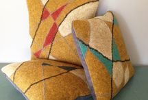 Patty Benson / Artfully created handfelted pillows, wall hangings and jewelry. Modern lines, ancient technique.