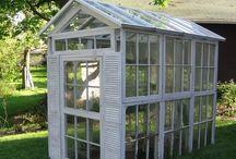 Gardening greenhouse sheds