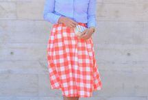 Gingham love / Gingham outfits, gingham clothes, how to wear gingham