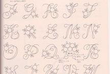 Monogramy, fonts / Písmo