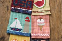 Towel Patterns / I love to decorate for different seasons and months! These raw edge fusible appliqued towels are patterns designed by Michele Crawford for Flower Box Quilts; and are available to purchase online.