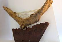 Treibholzarbeiten&Skulpturen / Treibholz-Schwemmholz-Driftwoodworking