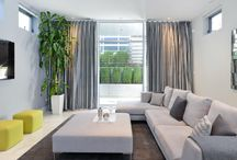 Modern living with grey and white