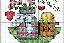 Üvegtetők - cross stitch