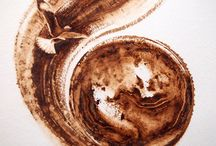 Art works done with coffee / Paintings done with pure coffee on watercolour paper