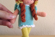 Naturadmc doll crochet red hair